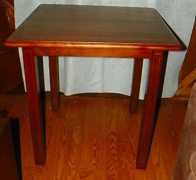 Mahogany Center Table - Mahogany Ribbon or Pencil Inlaid Game Table / Center Table  (T184)