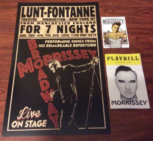MORRISSEY BROADWAY NYC LUNT FONTANNE THEATRE POSTER + PLAYBILL +POSTCARD SMITHS