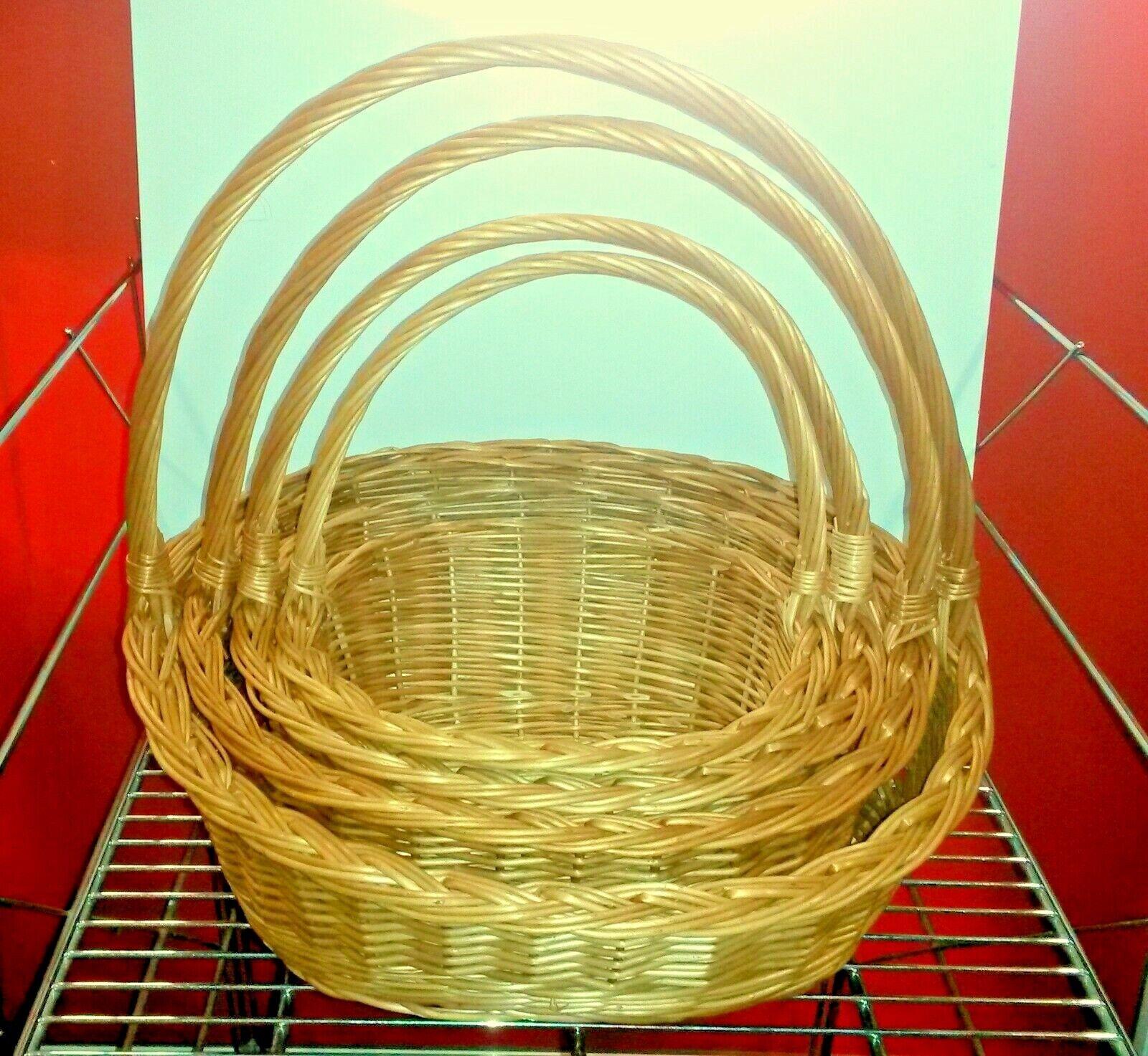 Präsentkorb Leer Geschenkkorb 4 Größen Präsentkörbe Weide mit Gratis Holzwolle
