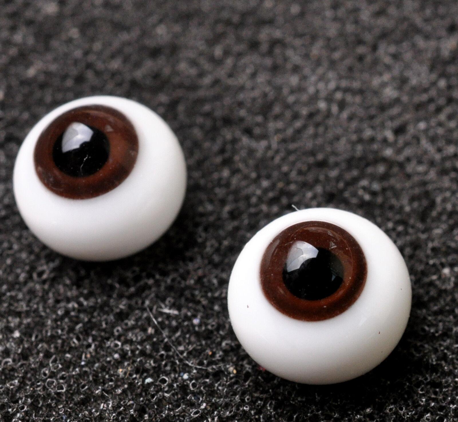 New 18mm Dark Brown Glass BJD Glass For DOD DZ AOD Volks Reborn Doll Outfits