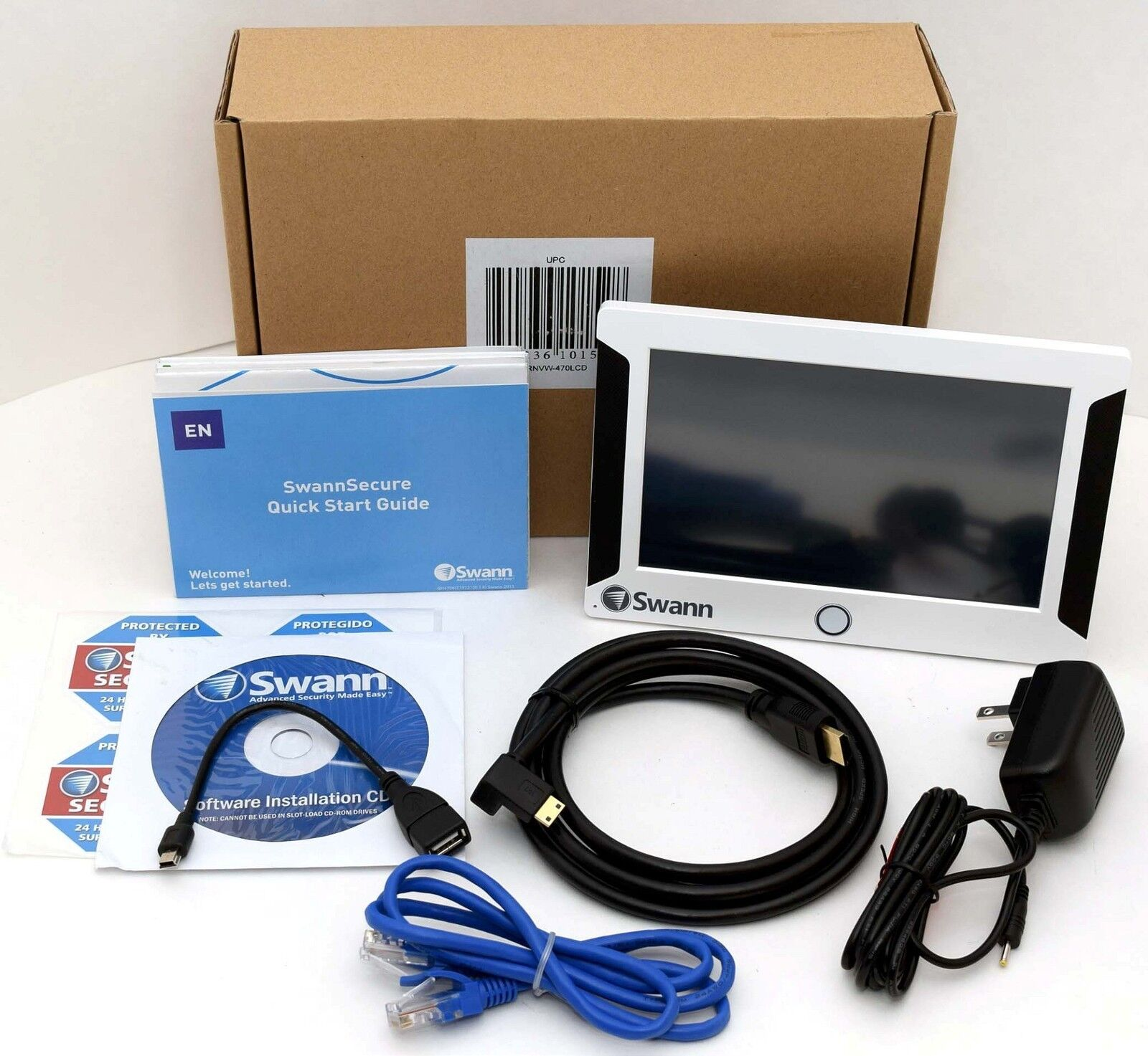 New Swann Srnvw 470lcd Wi Fi Security System Nvw 470 4