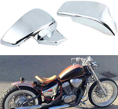 Chrome PAIR Battery Side Faring Cover For HONDA Shadow VLX Deluxe VLX 600 2006