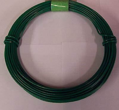 HEAVY DUTY GREEN PLASTIC COATED STEEL GARDEN FENCING STRAINING WIRE 3.5mm X -