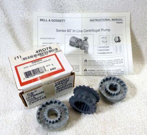 """Woods Bell & Gossett 3J Sleeve-Type Coupling 186004 5/8"""" 3 pc set NEW"""