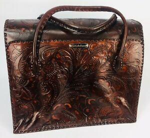 Leather tote Western cowboy Theme designer bag NEW