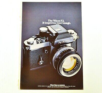 Nikon F2 Camera Photo Image Print Ad Advert Original Vintage 1972 C862