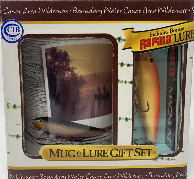 Rapala Fishing Mug & Lure Boxed Gift Set~Set Of 2~Rapala Magnum Lure~Scenic~NEW