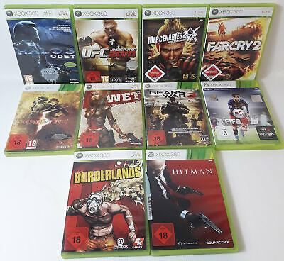 Spiele Sammlung | Xbox 360 | 10 Spiele Ü18 Wet Gears of War 3 Fifa Hitman