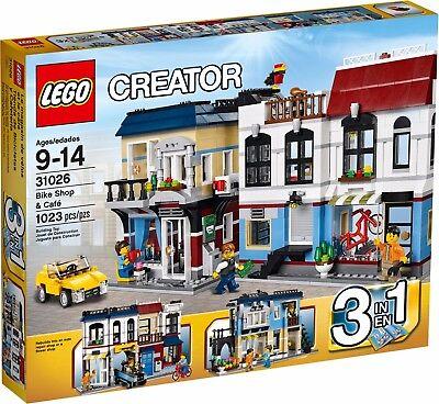 Lego Creator Bike Shop   Caf   31026  3 In 1  New