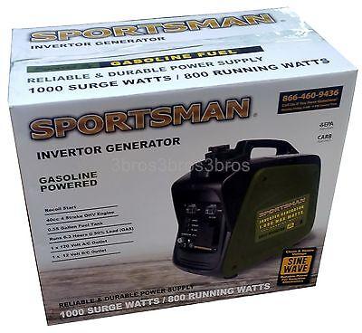 New Lightweight Power Generator Sportsman 1000 Watt Inverter Gas Powered