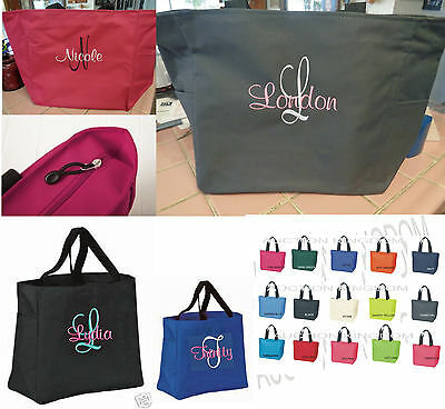 1 CUSTOM Tote Bag FRIEND Bridesmaid Gift Wedding FAMILY NANA WIFE ZIPPER ZIP](Custom Tote Bags)