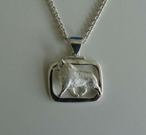 Large Sterling Silver Schipperke Moving Study