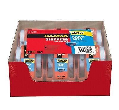 Scotch 3850 Heavy Duty Shipping Tape Dispensers 2 X 27.7 Yds 6pk