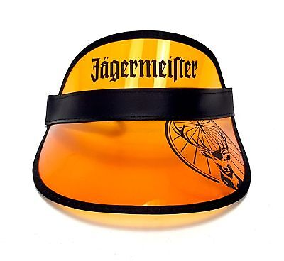 Jägermeister Visor Kappe Transparent cap Mütze Sonnen Schutz Orang
