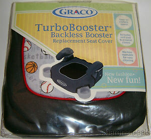 graco turbo booster sports black backless replacement seat cover pad armrest nip 47406046140 ebay. Black Bedroom Furniture Sets. Home Design Ideas