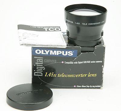Olympus 1,45x Tele Converter Lens With 46mm Thread. Clean. Box.