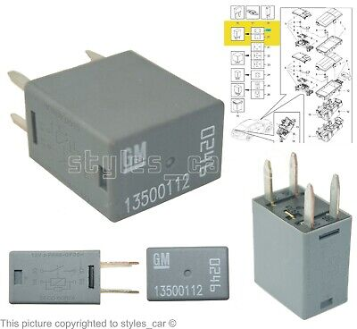 VAUXHALL VECTRA C CORSA C FUSE RELAY GM 90226846 12V 70A