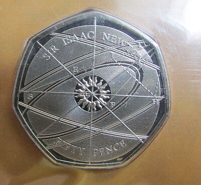 2017 Unopened UK 50p Coin In Folder - The Pursuit of Truth Sir Isaac Newton