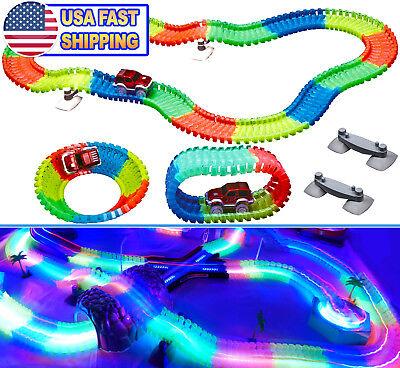 LED Magic Twister Glow In the Dark Light Up Race Tracks - Flex, Bends & Glows