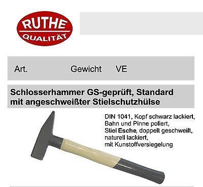Ruthe Schlosserhammer 1000g mit Stielschutz, Qualität für Handwerk und Industrie
