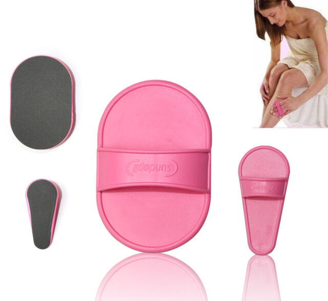 Hair Removal Pads Smooth Skin Legs Arms Face Lip Painless Exfoliator Remover Set