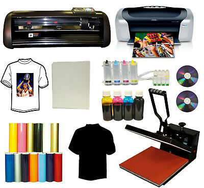 15x15 Heat Press14 Vinyl Cutter Plotterprintercissink Refilspu Viny Bundle