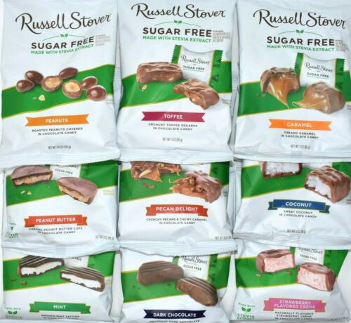 SUGAR FREE CHOCOLATE RUSSELL STOVER Variety: Choose From 18 Flavor - FAST SHIP