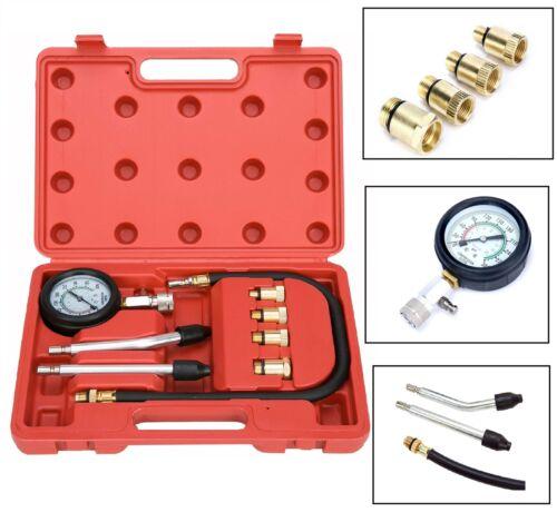 Cylinder Compression Gauge Tester Gas Petrol Engine Gauge Kit For Car Motorcycle