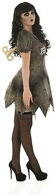 Womens Wind Up Deadly Doll Costume Key Socks Ladies Broken Clockwork Fancy - Wind Sock Kostüm