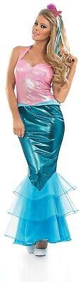Damen kleine Meerjungfrau Fee Prinzessin Karneval Kostüm Fasching - Kleine Meerjungfrau Kostüme