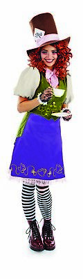Womens Miss Mad Hatter Costume S - L Ladies Alice in Wonderland Fancy Dress  - Mad Hatter Womens Costumes