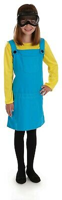 Girls  Minion Dress Costume S - XL Kids Despicable Me Fancy Dress Film Book - Minion Girl Kostüm