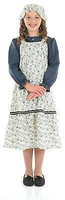 Kids  Victorian Floral Dress Costume M  XL School Girl Fancy Dress Book Week - School Victorian Day Kostüm