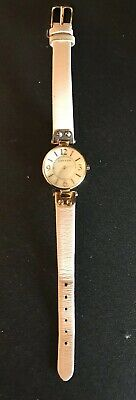 AK Anne Klein Watch with Faux Mother of Pearl Face and Pink Leather Band #V121E