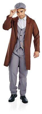 Mens 1920s Gangster Costume M L XL Adult 20s Gang Fancy Dress Gangs of New York