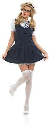 Womens Naughty School Girl Costume Ladies St Trinians Schoolgirl Fandy Dress - Naughty School Kostüm