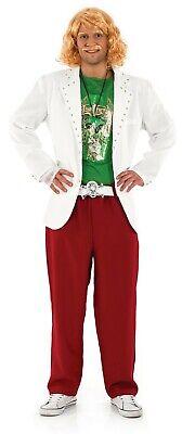 Mens TV Game Show Host Costume  Wig Tash Adult Keith Lemon Fancy Dress M L XL