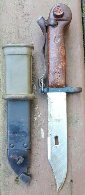 Vtg. Polish Army Military Bayonet Knife w/ Scabbard