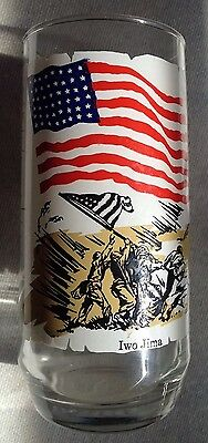 Coca-Cola Heritage Collector Series Glass/Iwo Jima/1976/Clear With Multi-Color