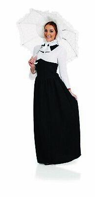 Womens Victorian Lady Nanny Teacher Fancy Dress Costume S -  XXL Book Day Week