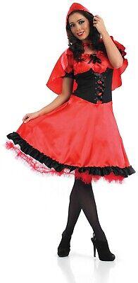 Womens Little Red Riding Hood Costume Ladies Fairy Tale Fancy Dress Size M - - Fairy Tale Little Red Riding Hood Kostüm