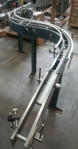 "Conveyor ""S"" Curve with (2) 90 degree curves and straight"