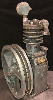 Vintage Kellogg Model 261-7370 Cast Iron Air Compressor Pump W 13.75 Flywheel