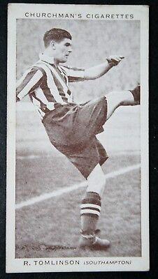 Southampton FC   Tomlinson  Original 1930's Footballer Photo Card # VGC