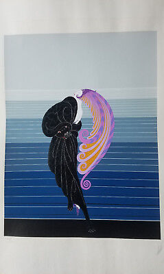 ERTE Original Serigraph Beauty And The Beast Dress Design Art Deco Signed