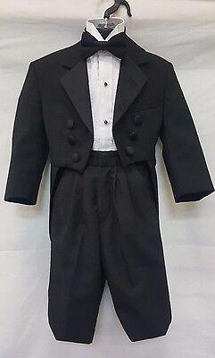 Boys Size Black Tuxedo Tailcoat Cheap Halloween Costume Kids Stage Play Dracula
