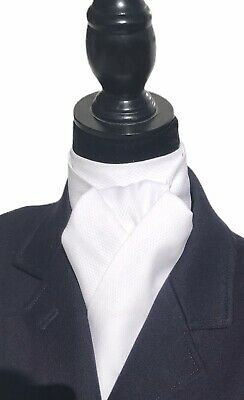 Foxhunting Foxhunter Dressage White Equestrian Stock Tie