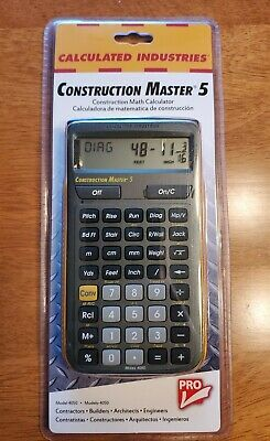 Calculated Industries Construction Master 5 Math Calculator Pro Model 4050c Tool