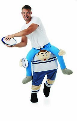 Mens Rugby Player Piggyback Costume Adult Ride Me On Piggy Back Stag Fancy Dress
