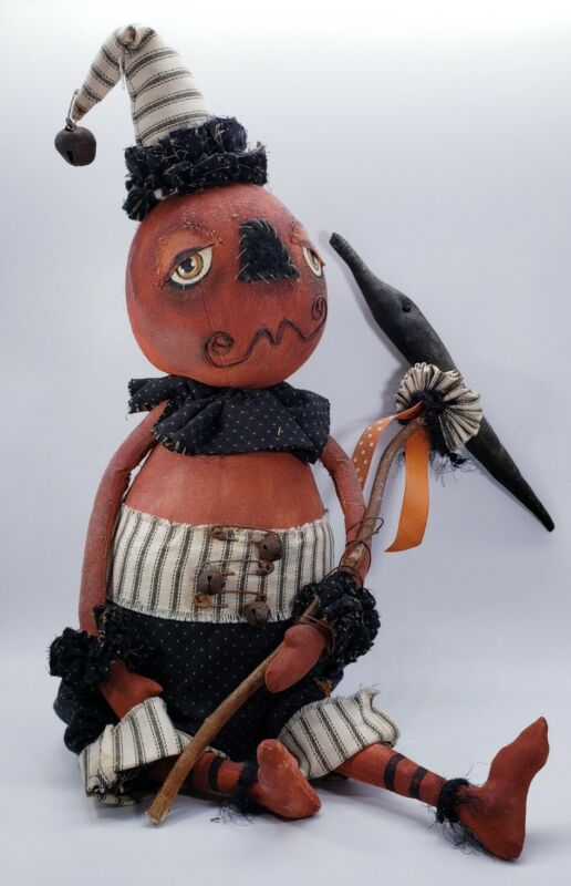 Primitive Grungy Halloween Decoration Doll Folk Art Home Decor Cedar Hill Rustic